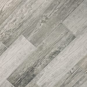 Grey wood look porcelain tile