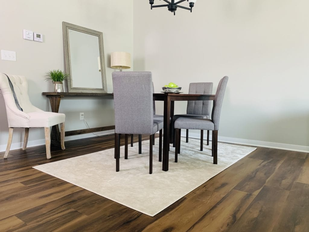 Dining room with luxury vinyl floors