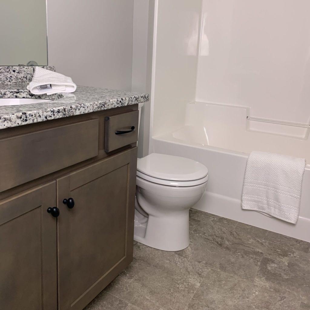 Bathroom with tile floors