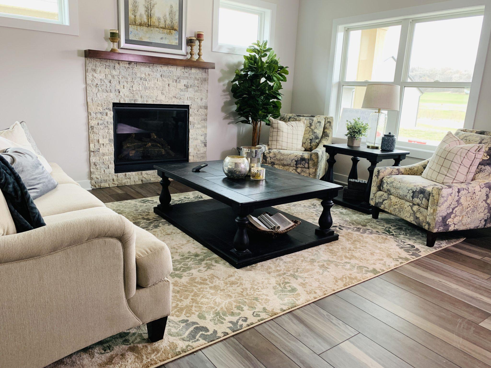 Living Room with Luxury Vinyl Planks