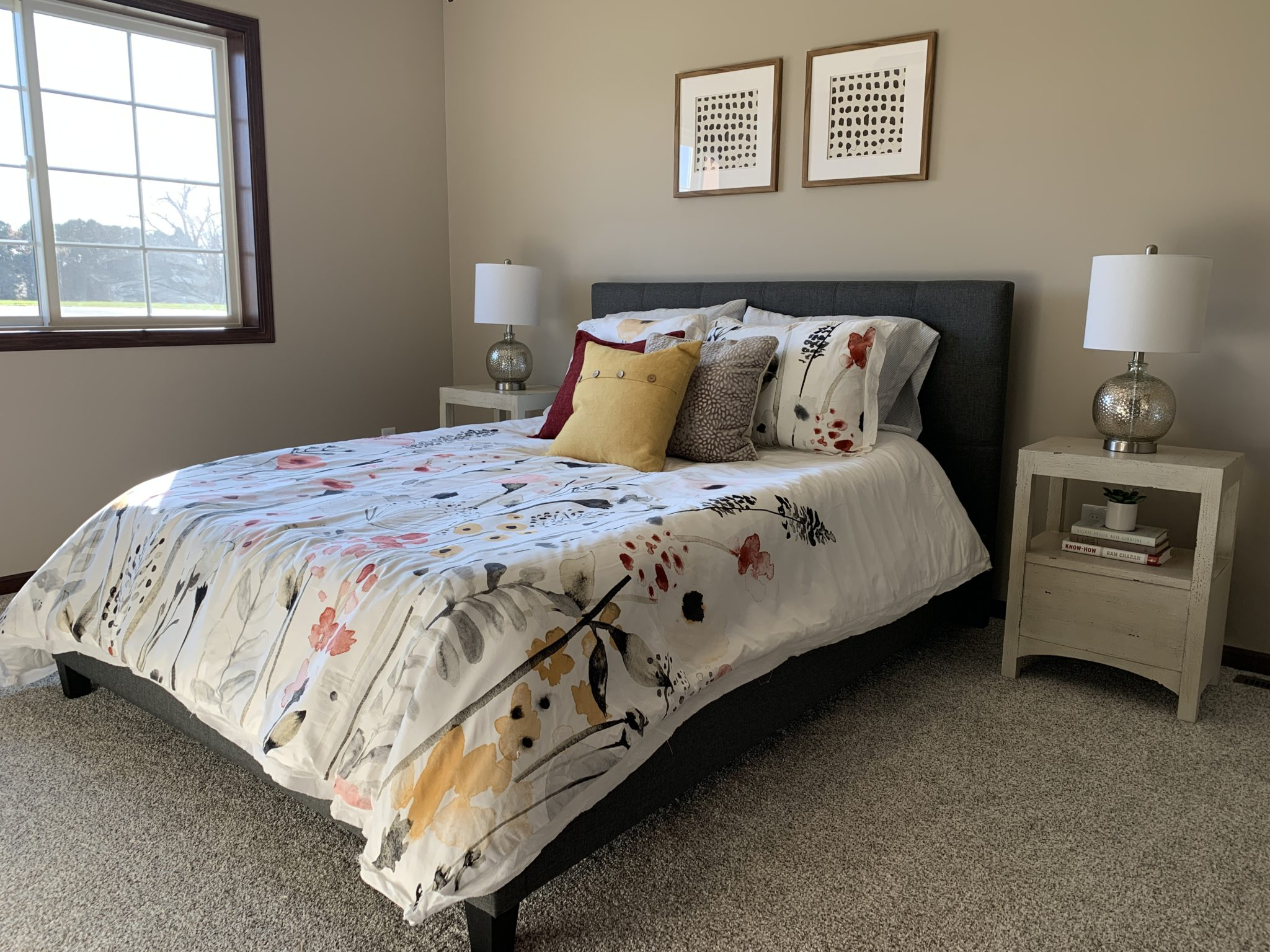 Bedroom with Carpeting
