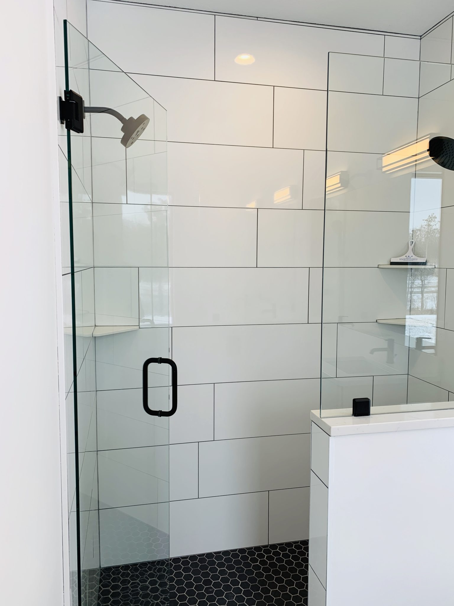 Bathroom with Tile Shower and Flooring